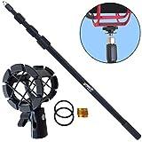 KEEPDRUM MPB03 Boompole 3m Tonangel Teleskopangel + PCMH1 Spinne elastische Halterung Shockmount für Richtmikrofone