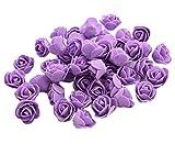 50x Demarkt Rosen Blütenköpfe Deko Blütenköpfe für Hochzeit Wohnzimmer 3-3.5cm Lila