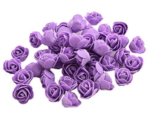 50x Demarkt Rosen Blütenköpfe Deko Blütenköpfe Für Hochzeit Wohnzimmer  3 3.5cm Lila