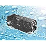 Techzere® Sardine F4 Premium Waterproof/Shockproof Bluetooth Speaker With Built-in Microphone, (Black/Grey) Universal Compatibility.