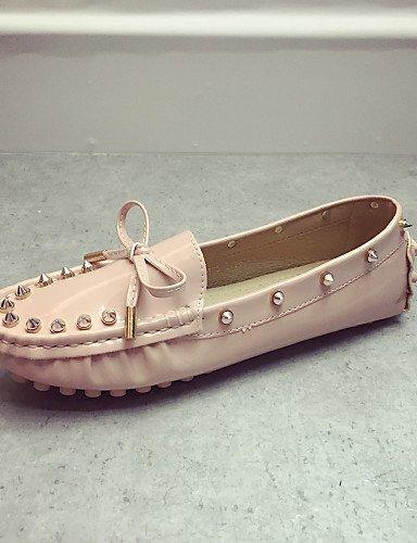 ShangYi Scarpe Donna - Mocassini - Casual - Chiusa - Piatto - Finta pelle - Nero / Rosa / Rosso Pink
