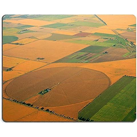 luxlady Gaming Mousepad ID: 19843581Vista aérea de Farmland de imagen con un mosaico de cultivo tierra y Plantar Cultivos