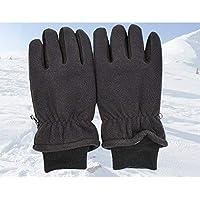 Fepelasi Guantes anticongelantes de Baja Temperatura Resistentes al Desgaste de Invierno Guantes de Piel de Ciervo Guantes de esquí de Invierno cálido (Color : Black, Size : M)