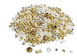 VBS Perlenmischung Pearl ca. 40g 6 verschiede Sorten Perlensterne Gold Silber Perlmutt Schmuck Weihnachten