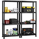 Best Garage Racks - VonHaus Pack of Two 4 Tier Plastic Shelving Review
