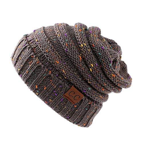 HAOLIEQUAN Nuevos Sombreros De Algodón De Punto para Mujer De Otoño E Invierno Abrigos De Esquí Cálidos Y Cómodos Tendencia De Moda Slouchy Beanie Skullies, A