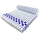 Fecido Classic Kitchen Tea Towels - Heavy Duty - Super Absorbent - 100% Cotton - Professional Grade Dish Cloths - European Made Tea Towels - Set of Two, Blue