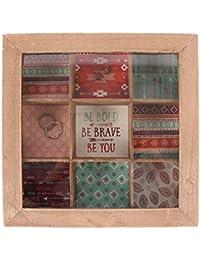 Caja de joyería Boho Bandit de madera compartimento Joyero vitrina
