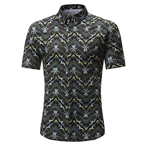 TWIFER Men's Casual Slim Short Sleeve T-Shirt Sexy Shirt Printed Shirt Top Blouse