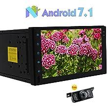 "Universal Stereo 2 Din Car Multimedia Player Android 7.1 Octa-core de 2 GB + 32 GB 7"" con 1024 * 600 de soporte de navegaci¨®n GPS SWC de Enlace telef¨®nico 3G / 4G WIFI Bluetooth OBD2 DAB + 1080P Video Cam-A + de parte posterior de la c¨¢mara"