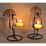 Nexplora Industries Decorative Tealight Candle Holder Set Of 2