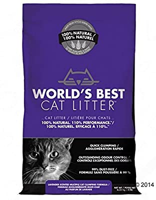 Lavender Scented Fast Clumping Cat Litter - No Chemicals Additives - Ensures that your Home Environment Stays Fresh and Clean-Smelling from World's Best