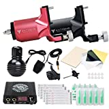 DragonHawk Tattoo Kit 2 Pro Extreme Rotary Machine Gun Power Supply Disposable Needles MDJT-2