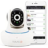 HD Wireless IP Home Security Camera - Home Surveillance Camera 1280 x 720p - Motion & Audio Detection - Remote Viewing, Night Vision - Rotating