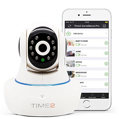 Cmara-IP-HD-Wifi-Con-visin-nocturna-Cmara-de-vigilancia-Seguridad-Pan-Tilt-Rotacin-360-720P-10-Megapixel-P2P-IR-Cut-Deteccin-de-movimiento-Microfono-altavoz-Alertas-mviles-y-email-Tarjeta-TF-hasta-64G