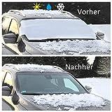 HINRI Premium PKW Sonnenabdeckung, 100% Sonnenschutz | Frontscheibenabdeckung für das Auto | Einfache Anbringung & faltbar