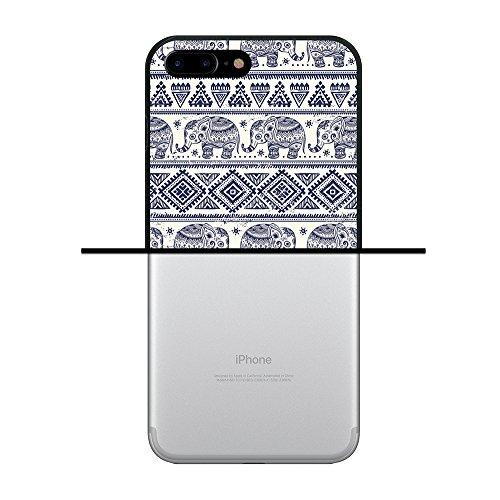 iPhone 7 Plus Hülle, WoowCase Handyhülle Silikon für [ iPhone 7 Plus ] Roma Itallien Symbole Handytasche Handy Cover Case Schutzhülle Flexible TPU - Schwarz Housse Gel iPhone 7 Plus Schwarze D0109
