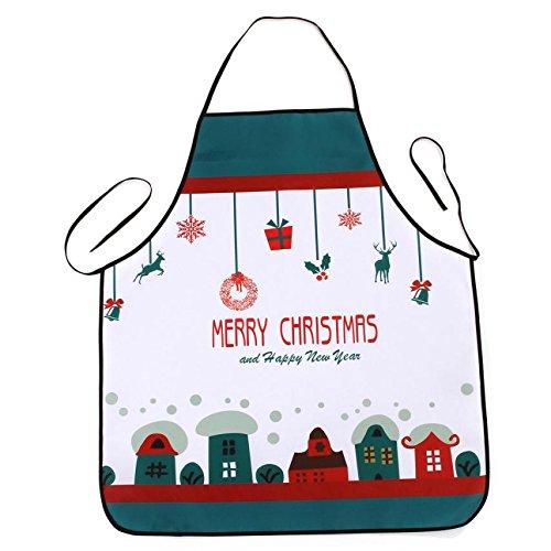 Lqchl 1Pcs 70*80Cm Décoration De Noël Tablier Imperméable En Polyester Pour Le Dîner De Noël Cuisine Tablier Partie Décoration D,L