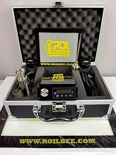 Roilbee digitaler E-Nagel PID-Regler mit Temperaturkontrolle, Titannagel, Vergaserdeckel  und Extras
