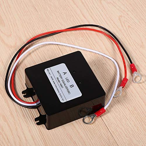 SOULONG 2 x 12V Schwarz Batterie-Equalizer, 5A Solar Battery Balancer, HA01 Zweiweg Battery Balancer, 70 x 70 x 27 mm