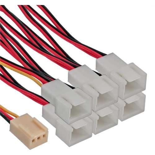 InLine® 33436 Lüfter Adapterkabel, 3pol Molex Buchse an 6x 3pol Molex Stecker