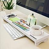 TOOGOO Clavier d'ordinateur de bureau multifonction Etagere de rangement en bois en plastique Perles de stylo Cintre decor a la maison