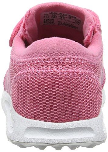 adidas Los Angeles Cf, Sneaker Bas du Cou Mixte Enfant Rose (Easy Pink/easy Pink/ftwr White)
