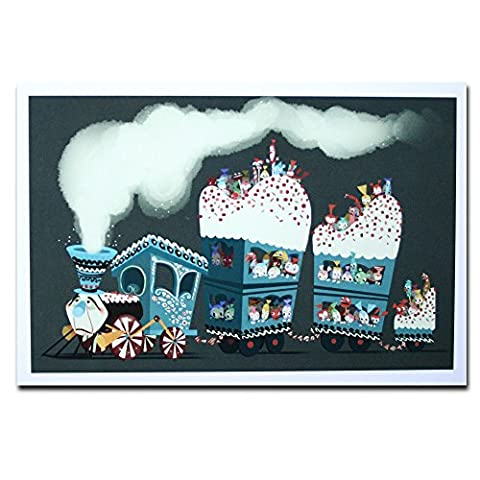 Wreck It Ralph Disney Film Genuine Postcard Candy Train Card Gift