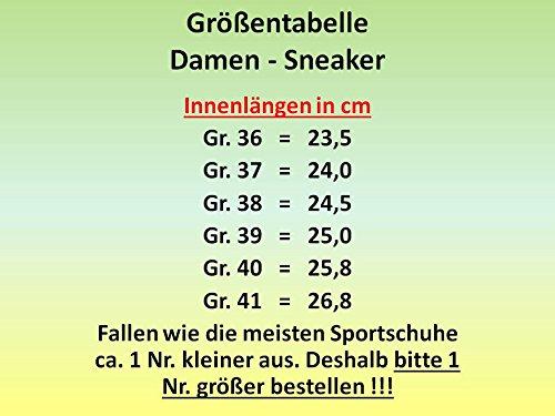 GIBRA® Damen Sneakers, sehr leicht und bequem, pink/bunt mit Blumenmuster, Gr. 36-41 Pink/Bunt