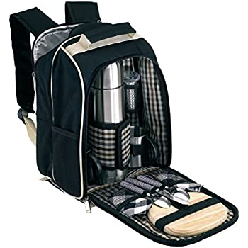 picknick rucksack f r 2 personen mit k hlfach ohne picknickdecke sport freizeit. Black Bedroom Furniture Sets. Home Design Ideas
