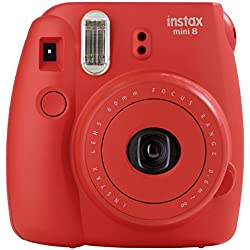 Fujifilm Instax Mini 8 Instant Point And Shoot Camera Raspberry