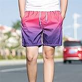 APTRO 2017 Shorts en Polyester de Plage Bain Sport Nouveau Modèle Couleur Contrastée Loose Confortable Respirable Séchage Rapide Homme