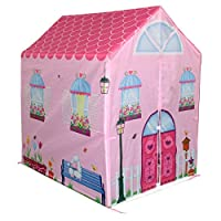 Bentley Kids Childrens Pink Girls Playhouse Wendy House Indoor Outdoor Play Tent