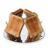 Campingtoaster Justcamp Golden, 4 Scheiben Toast, Toaster Aufsatz für...
