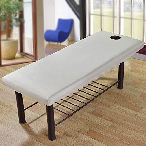 Bettlaken Massage Sofa mit Gesicht Loch Massage Tisch Flanell Blatt Schutz Couch Kissen - Salon Spa Massage Tischdecke Bettlaken Abdeckung - Grau -