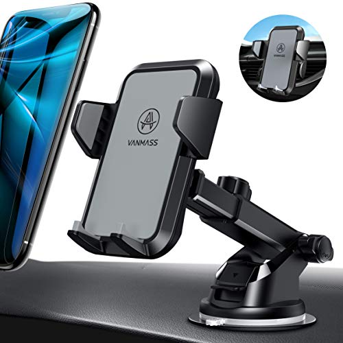VANMASS Handyhalterung Auto Handyhalter fürs Auto Lüftung & Saugnapf Halterung 3 in 1 Smartphone Halterung KFZ 100{2a673cb34fdf405abb8fc8a27be59b84e254222efb8e7ed758dbf4424bcaa5e0} Silikon Schützt Universal für alle 4-7 Zoll Handys wie iPhone Samsung Huawei LG