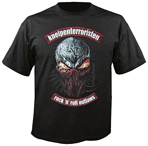 KNEIPENTERRORISTEN - Rock n Roll Outlaws - T-Shirt (plus Rotlichtparty-CD Gratis) Black