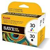 Kodak Ink Combo Pack Negro, Cian, Magenta, Amarillo cartucho de tinta - Cartucho de tinta para impresoras (Negro, Cian, Magenta, Amarillo, ESP C310; ESP 2170, Estándar, Inyección de tinta)