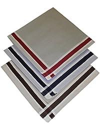 Tobeni 12 satin tissu 100 mouchoirs de coton pour les hommes de couleur ou blanc