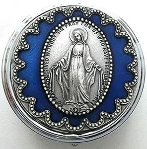 Gtbitaly 90 106 11 038 Rosenkranzhalter Madonna Maria Wunderschöne Silber Mit Amazon De