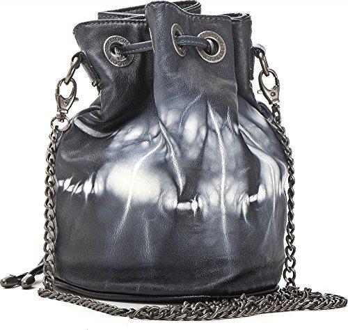 MIYA BLOOM, Damen Handtaschen, Umhängetaschen, Crossover-Bags, Beuteltaschen, 25,5 x 21,5 x 15,5 cm (B x H x T), Farbe:Dunkelblau (Navy) Dunkelblau (Navy)