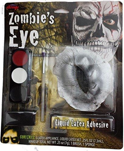 NEU KOSTÜM HORROR HALLOWEEN ZOMBIE EYE MAKE-UP LATEX FALLEND EYE LEER EYE (Eye Kit Zombie)