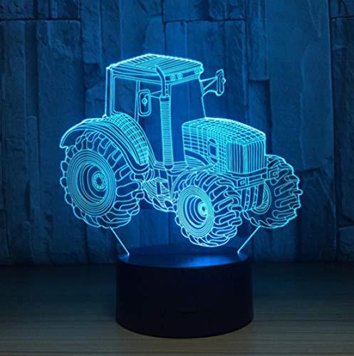 Joplc Ackerschlepper 3D LED Lampe Deko Licht Automobil Form USB Lade Touch Schalter Lampe Kinder Nachtlicht Für Neujahr Gift164