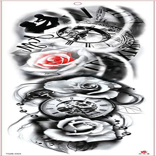 7pcs Tattoo Tattoo-Aufkleber Rose Tattoo Großer mechanischer Arm Tattoo Ärmel Wasserdicht -