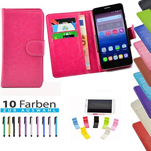 ikracase Handyhülle für TP-LINK Neffos C5 Max Smartphone Hülle Tasche Case Cover Schutzhülle Etui - 5 in 1 set in Rosa