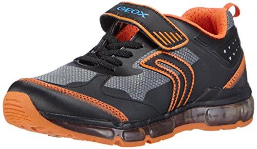 Geox J ANDROID BOY B Jungen Sneakers Mehrfarbig (C0038BLACK/ORANGE)