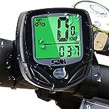 Mitening Cuentakilómetros para Bicicleta, Velocímetro para Bicicleta, Ciclismo con 16 Funciones, Velocímetro Impermeable Inalámbrico para Bicicleta con Pantalla LCD de Retroiluminación (Negro)