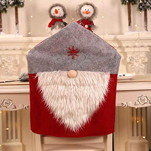 Kostüm Weihnachtsmann Gruselige - Junjie Party Weihnachtsdekoration Weihnachtsmann Tisch Red Hat Decor Dinner Chair Cover Santa Claus Table Red Hat Tee hängendes hängendes top hängendes trocknendes Netz