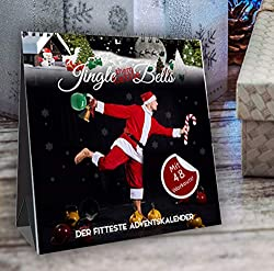 Jingle (them Kettle) Bells! Der fitteste Adventskalender by Johannes Kwella, 48 Workouts (je 1 Kettlebell- & 1 Bodyweight-Workout pro Tag), Tischkalender, 20x20cm