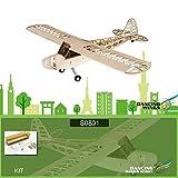 Duisger Danse Ailes Hobby S0801 Balsa en Bois RC Avion 1.2 M Piper Cub J-3 Télécommande Avions KIT Version Bricolage Modèle Volant